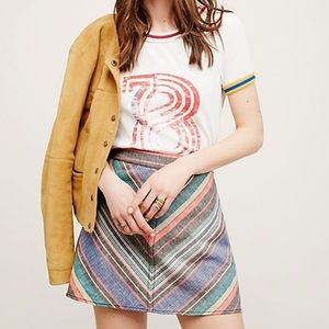 Free People Yours Truly Linen Mini Skirt Size 2
